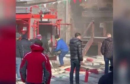 Пожар в Измайловском кремле в Москве локализовали