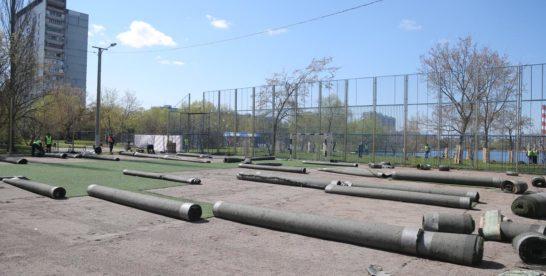 В сквере у Гольяновского пруда началось масштабное благоустройство