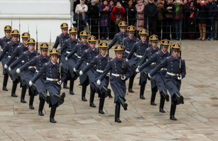В Московском Кремле возобновили церемонию развода караулов Президентского полка